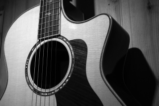 Acoustic-guitar-black-and-white-box-guitar-63694